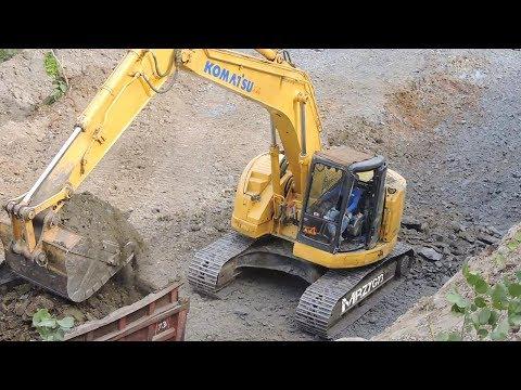 Excavator Digger Digging Loading Dump Truck