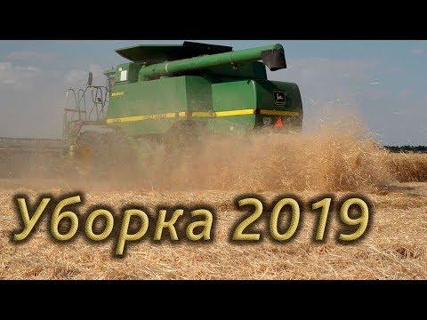 Уборка пшеницы 2019! комбайн John Deere.