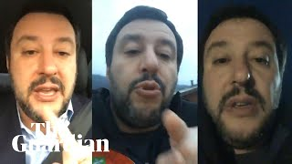 How Matteo Salvini uses Facebook live streams to exploit immigration