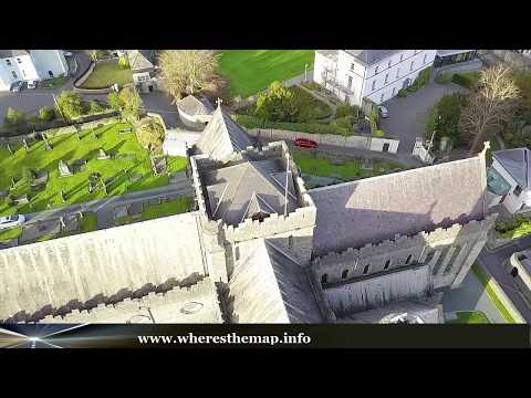 Kilkenny Ireland Aerial Tour - Kilkenny castle, St. Mary's Cathedral, Cathedral Church of St Canices