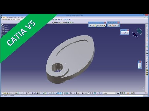 manual feature recognition catia v5 training simple part nocke rh youtube com catia v5 training guide CATIAV5 Drawings with Dimensions