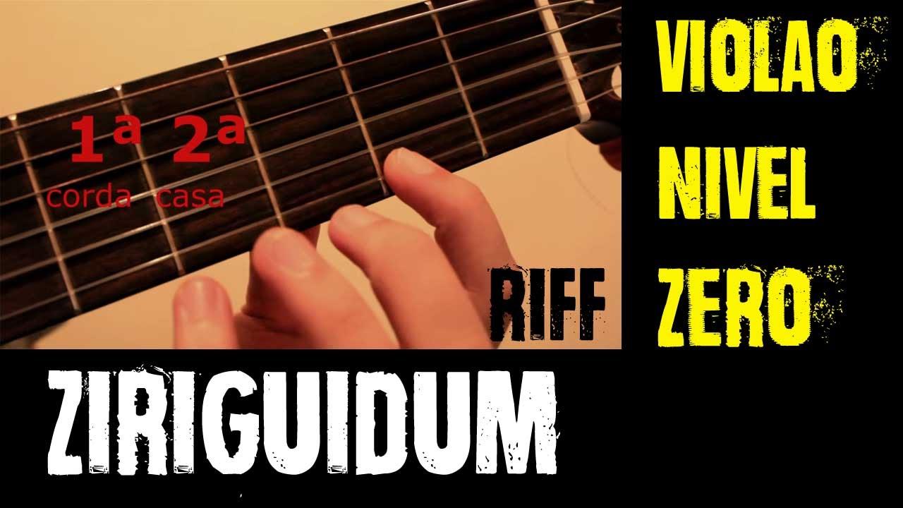 Toque fácil para iniciante no violão - Ziriguidum
