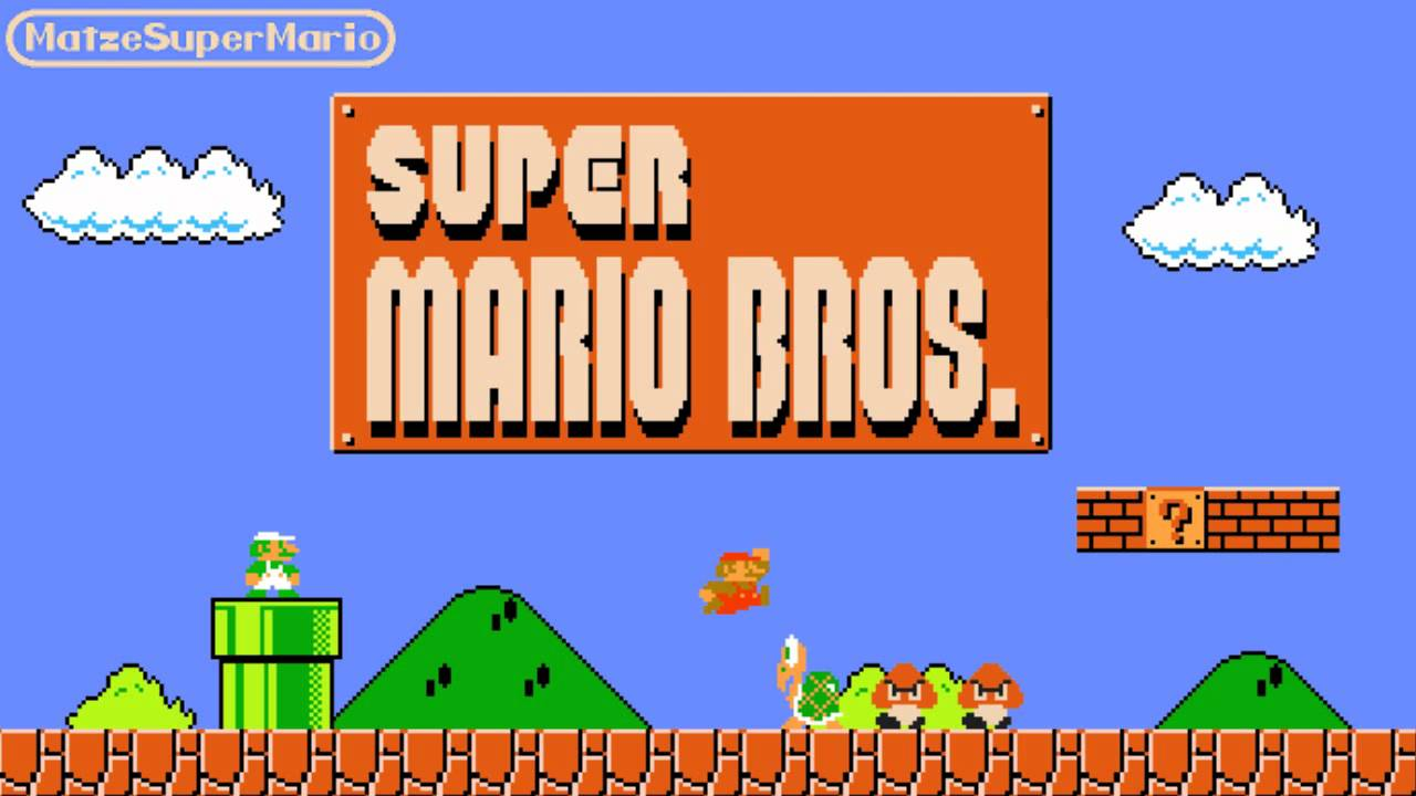 Screen Scratch Wallpaper Hd Super Mario Bros Music Main Theme Overworld Youtube
