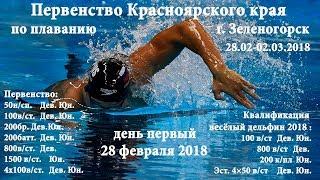Первенство Красноярского края по плаванию 28.02.18, г. Зеленогорск