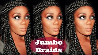super long jumbo box braids easy tutorial