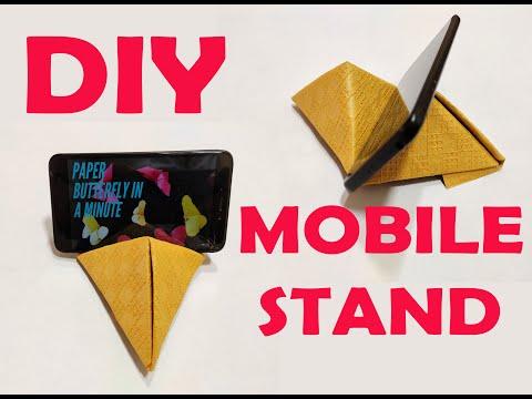 DIY Easy Paper Mobile Stand for Desk |  आसान मोबाइल स्टैंड मेज के लिए | 5 - Minute Craft