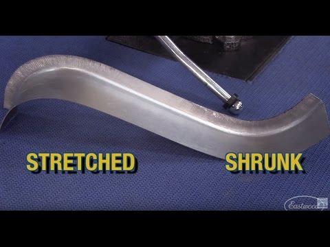 How To Shrink & Stretch Metal!  Forming Door Jams, Windshield Frames, Bike Fenders & More - Eastwood