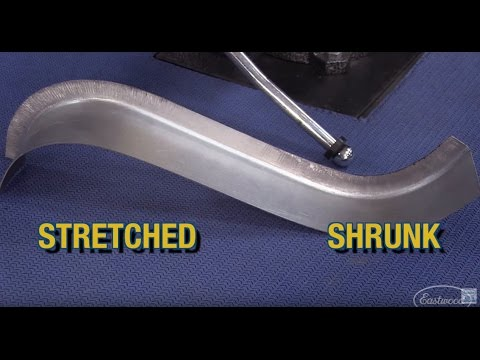 How To Shrink & Stretch Metal!  Forming Door Jams, Windshield Frames, Bike Fenders & More - Eastwood