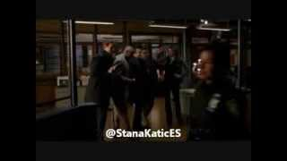 Stana Katic singing in Castle piano man