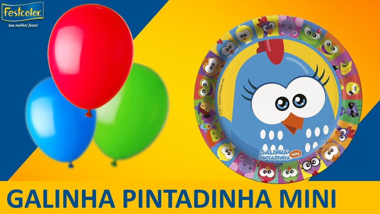 Decoraç u00e3o de festa infantil l Galinha Pintadinha Mini YouTube -> Decoração De Festa Galinha Pintadinha Rosa