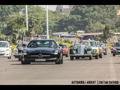 Mercedes Benz India Classic Car Rally in Mumbai