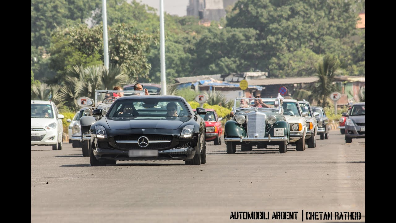 Mercedes Benz India Classic Car Rally in Mumbai - YouTube