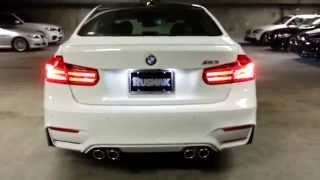 NEW 2015 BMW M3 GLOWING M BADGE & EXHAUST SOUND