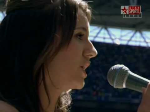Faryl Smith-God Save The Queen (National Anthem) 2009 FA Cup Final