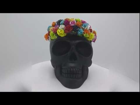 SKULL Bali 'SKULLture' Resin Art Exhibition Rhett Hutchece 'Thank Godot It's Frida'