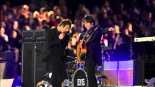 "Beady Eye perform ""Wonderwall"" at the Olympic Closing Ceremony…"