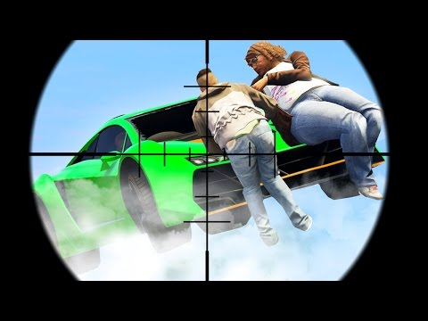 HIT THE SNIPERS AT 200MPH! (GTA 5 Funny Moments)