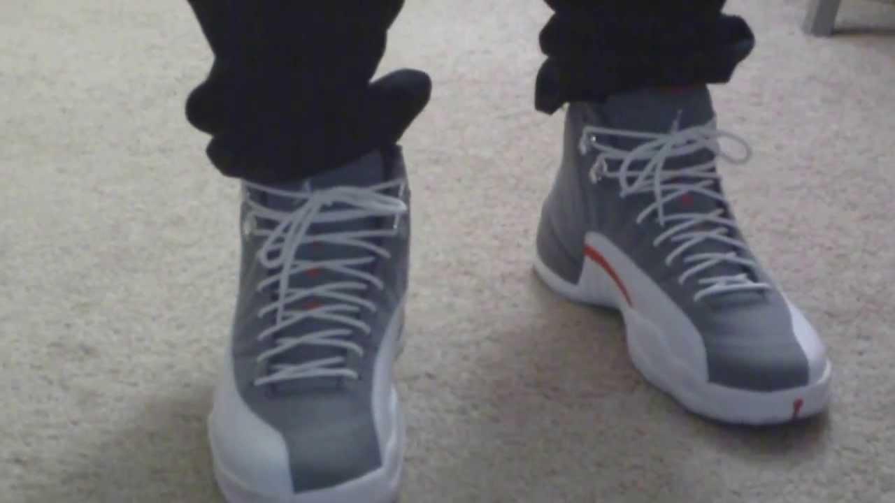competitive price 3d17a e45d3 Jordan 12 [Cool Grey] On Feet