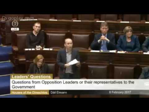 Paul Murphy challenges Taoiseach about Mark Kennedy & Spycops, 8 Feb 2017