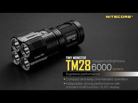 smallest 6,000 lumen flashlight I have ever seen - Nitecore TM28 (Tiny Monster)