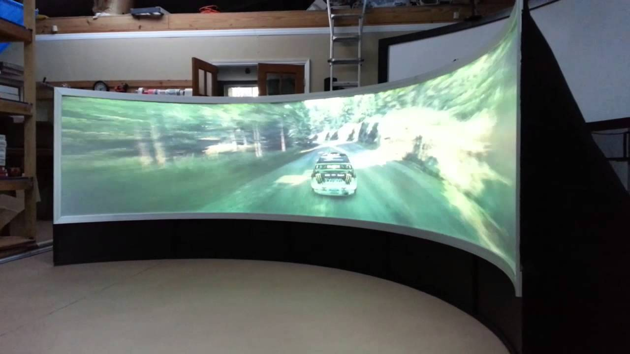 Pixelwix Geo Curved Video Game Screen Immersive Rear