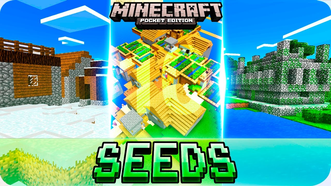 minecraft pe seeds with villages and all biomes