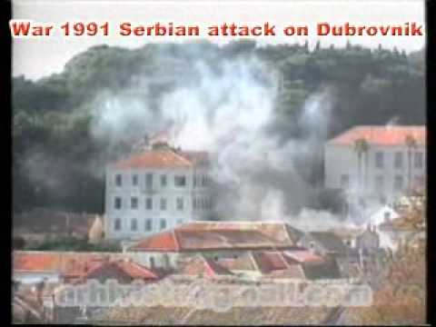Dubrovnik  in war 1991, Serbian attack on Dubrovnik