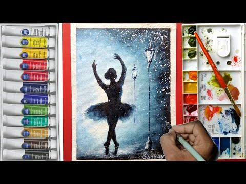 Simple Watercolor Ballet Dancer Painting Tutorial for beginners !