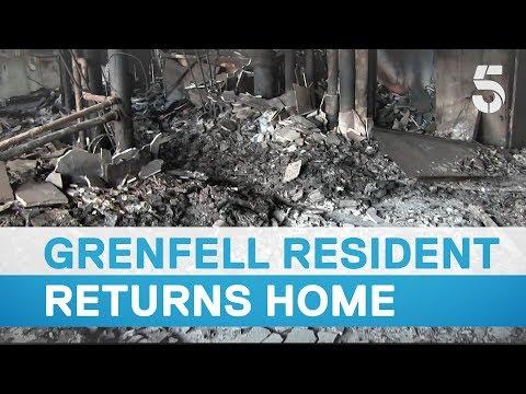 Grenfell survivor returns