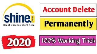 How To Delete Shine.Com Account Profile Permanently In Hindi 2020   Shine.Com Account Disable   screenshot 4