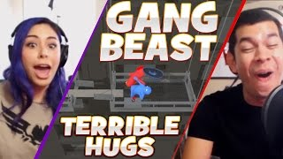"""TERRIBLE HUGS"" Gang Beast - Husband vs Wife"
