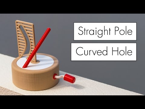 Straight Pole + Curved Hole Illusion // How it Works