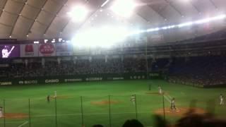 2012年3/20(火)日本ハムVSオリックス オープン戦。 日本ハムのチ...