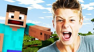 MINECRAFT TROLLING: ANGRY TEENAGER RAGES IN MINECRAFT!