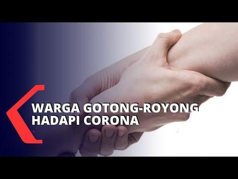 Gotong-Royong Bantu Tetangga Terdampak Wabah Corona