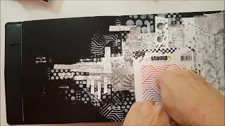 Gel Press Paint it Black Part Two by Ana Bondu