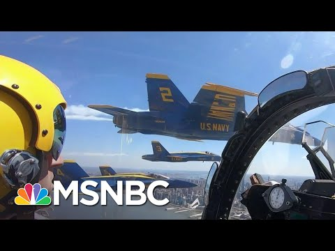 Military Flyover Pays Tribute To COVID-19 Frontline Responders | The 11th Hour | MSNBC