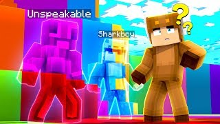 MINECRAFT RAINBOW CAMO HIDE N SEEK! (With UnspeakableGaming & 09sharkboy)