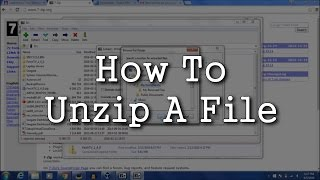How To Unzip A File (7-Zip)