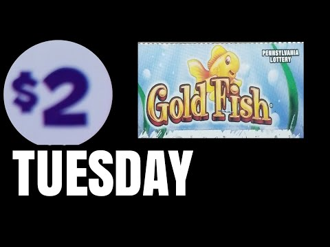 2's for Tuesday GOLDFISH Pa lottery scratch tickets