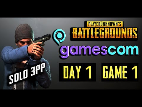 PUBG GAMESCOM INVITATIONAL DAY 1 - SOLO 3RD PERSON (GAME 1)