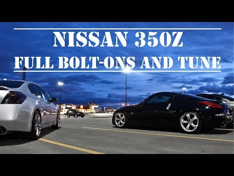 350Z Full Bolt-Ons: Start-Up, Revs, Launches and Top Speed 0-155 mph(250 kph)