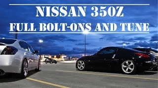 350Z Full Bolt-Ons: Start-Up, Revs, Launches and Top Speed 0-155 mph  (250 kph)