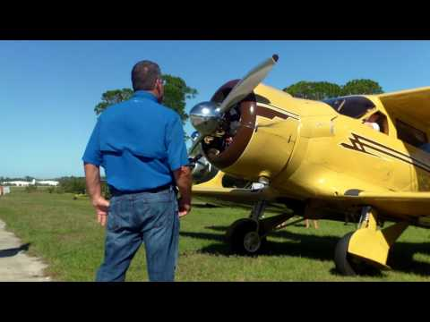 Beech Staggerwing hand prop