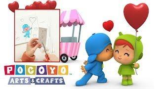 ❤️ PocoyÓ En EspaÑol📏: Arts & Crafts - Tarjeta De San Valentín | Caricaturas Y Dibujos Animados