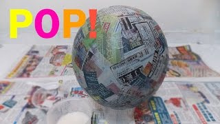 How to make a Pinata base, bowl, ball, sphere / Paper Mache Paste || Cheap, Simple and Easy