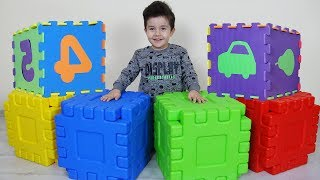 Sihirli Kutularda Sürprizler Var! Yusuf pretend play with colored magic boxes