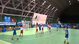 20111102福大ハンド女子、全日本、日本女子体育大学.wmv