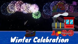 Winter City - Train Cartoon for kids - Choo Choo Train - choo choo train videos for kids