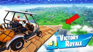 GOLF KART JUMP from MAX HEIGHT in Fortnite Battle Royale